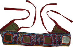 Zippie Blue Tribal Gypsy Mirror Belt