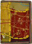 Writing Notebook Diary Sequins Metallic Thread XL