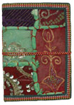 Handmade Blank Paper Journal with Embellished Patchwork L