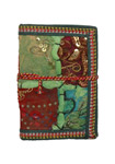 Sequined Patchwork Tiny Pocket Journal in Handmade Paper S
