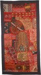 Indian Decorative Ethnic Embroidered Patchwork Tapestry